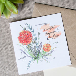 Birth Month Flower Card - birthday cards
