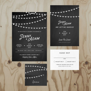Chalkboard Wedding Stationery Collection - save the date cards