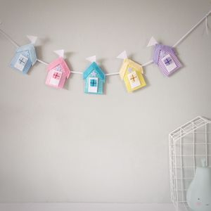 Felt And Glitter Beach Hut Garland