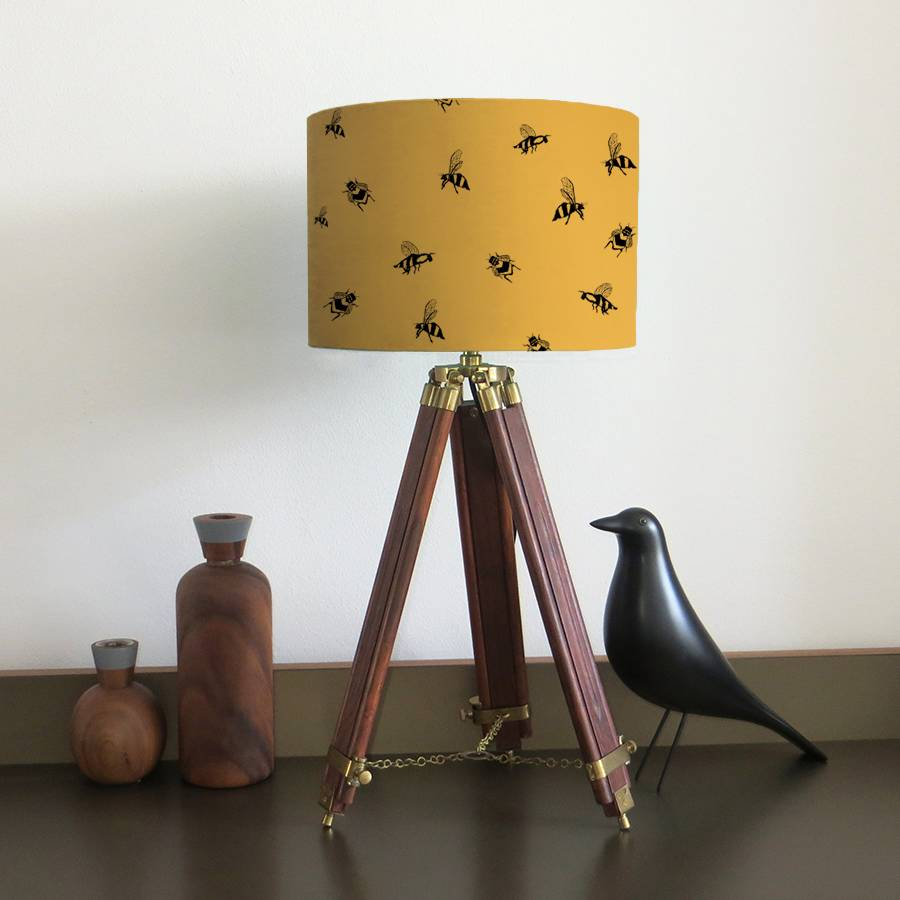 bumble bee lampshade with fifteen fabric colour options by bymarie ...
