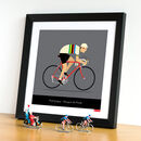 Gift For Cyclist Personalised Cycling Print