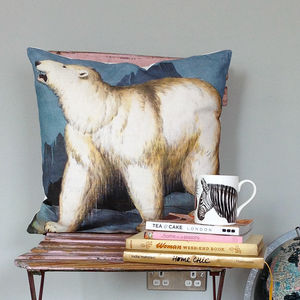 Polar Bear Cushion - living room