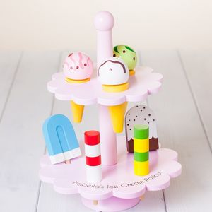 Childrens Personalised Wooden Toy Ice Cream Stand - traditional toys & games
