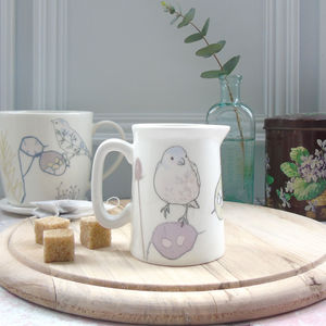 Honesty Seedheads And Chaffinch Mini Jug
