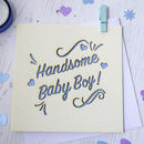 Baby Boy Laser Cut Card