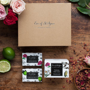 Luxury Body Cream And Organic Soap Gift Set