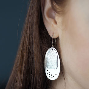 Pierced And Etched Earrings