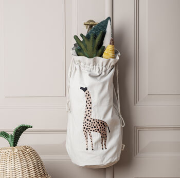Personalised Giraffe Children's Storage Bag