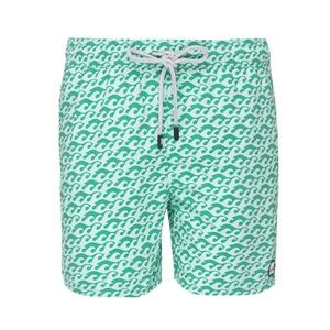 Men's Green Waves Swimming Shorts - men's fashion sale