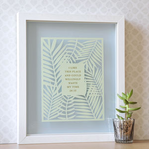 House Warming Gift Papercut With Quote - whatsnew