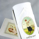 Handkerchief For Lady: Golfing Girl