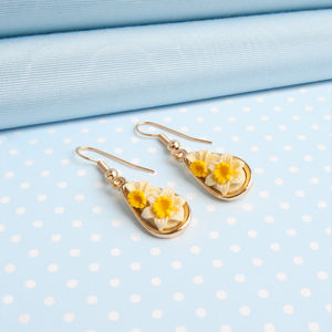 Daffodil Earrings Dropper Earrings