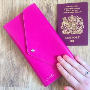 Personalised Leather Travel Wallet - graduation gifts