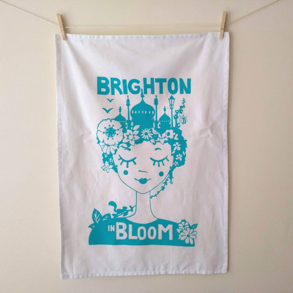 'Brighton Tea Towel', Brighton Gift