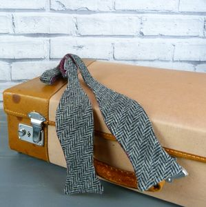 Harris Tweed Herringbone Self Tie Bow Tie