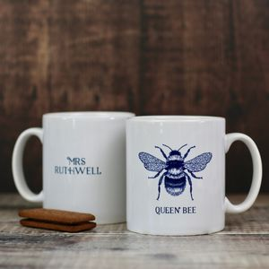 Personalised Bee Design Mug