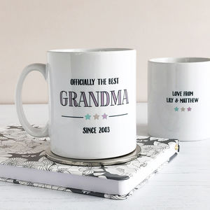 Officially Best Grandma, Personalised Mug - what's new
