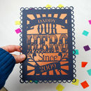 Personalised Our Hero Father's Day Papercut