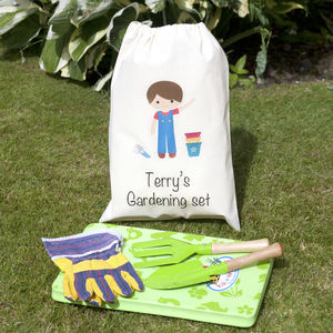 Boys Gardening Set With Personalised Bag - gifts for babies & children