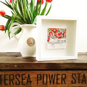 Battersea Power Station With Liberty Print