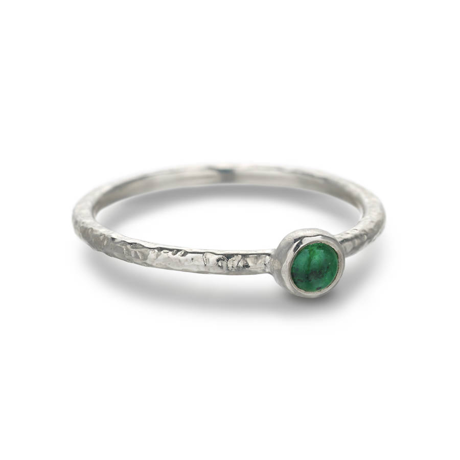 stacking ring emerald by frillybylily