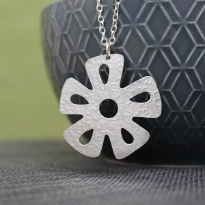 Sterling Silver Watercolour Daisy Pendant