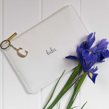 Personalised Luxe Star Dust 'Baba' Perfect Pouch