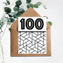 100 Printed Birthday Card