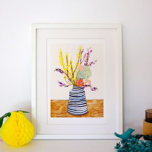 Spring Flowers A4 Giclee Print - still life