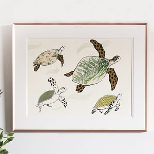 Splish Splosh Turtle Print - posters & prints