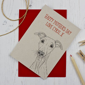 Whippet Mothers Day Card
