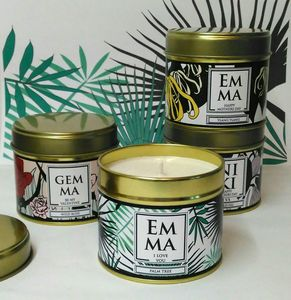 Personalised Botanical Candle In A Can - candles & home fragrance