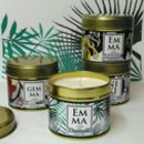 Personalised Botanical Candle In A Can