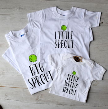 Personalised Father And Child Sprout T Shirts
