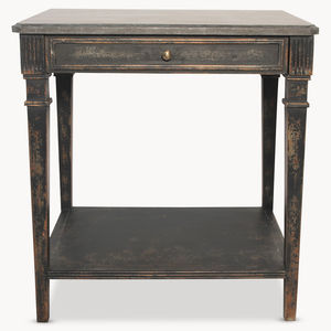 Woodcroft Stone Top Side Table - side tables