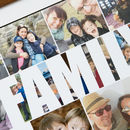 Close up Personalised Family Photo Collage Print