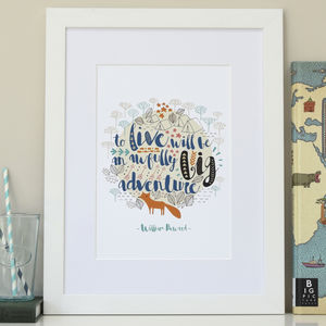 Personalised Children's Big Adventure Wall Print