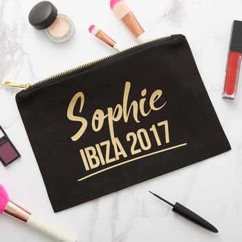 Personalised Hen Do Travel Make Up Bag