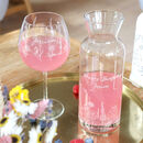 Personalised Engraved Wildflower Glass Wine Carafe