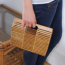 Bamboo Japanese Box Bag