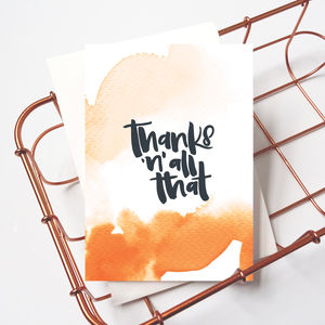 Funny / Sarcastic Thank You Card 'Thanks 'N' All That'