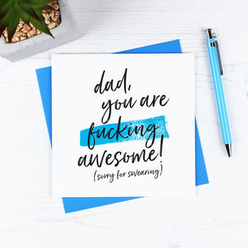 'You Are Awesome' Father's Day Card