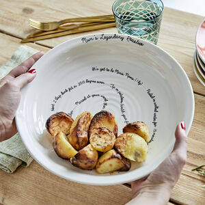 Personalised Favourite Recipe Dish