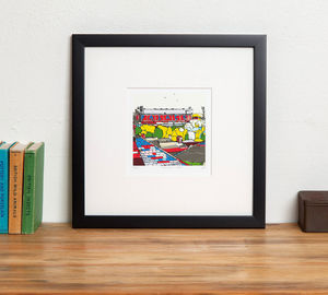 Crystal Palace's Selhurst Park Print - activities & sports