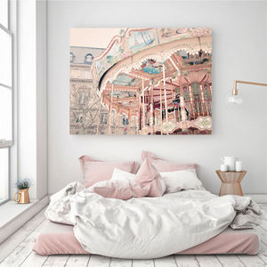 Paris Carousel Canvas Wall Art