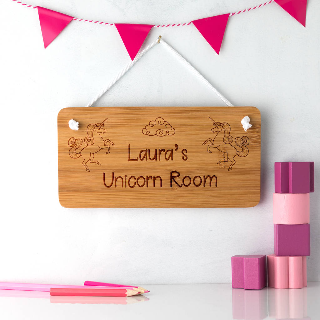 Personalised Unicorn Bedroom Sign