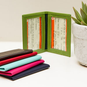 Personalised Travel Card Holder - passport & travel card holders