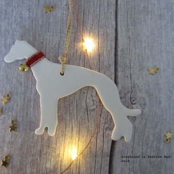 Personalised Greyhound Christmas Tree Decoration
