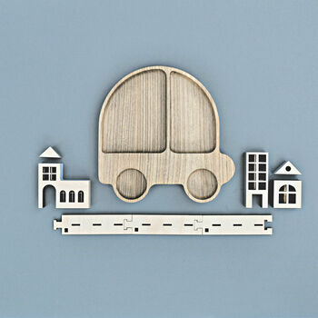 Eco Wooden Car Plate