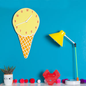 Ice Cream Glow In The Dark Kids Clock - children's room